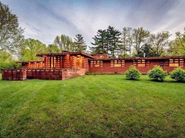 Frank Lloyd Wright-designed concrete block house on sale