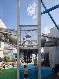 Award-winning urban playground in Brisbane features custom architectural mesh products