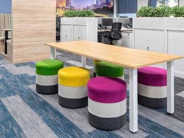 Fronditha Care Melbourne office features acoustic EcoSoft plank carpet tiles