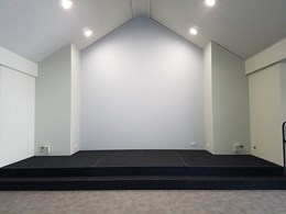 Simple modular design allows Church to install stage in-house