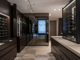 Gineico lights draw focus to spectacular display at eye care store