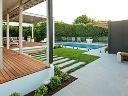 Feature-packed landscape design at suburban Melbourne home