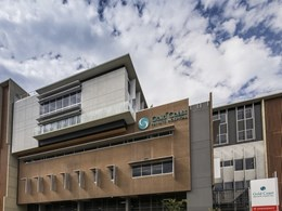Kingspan soffit boards insulate concrete soffits at Gold Coast Hospital
