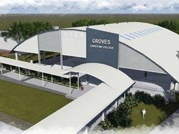 Spantech provides roof cover for Sports Dome at Groves Christian College