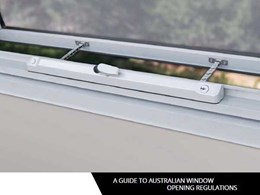 Doric Products releases a new guide to Australian window opening regulations