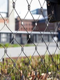 Jakob's Webnet stainless steel mesh used as railings on The High Line in New York