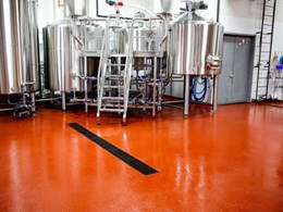 Flowfresh specified for brewery floor to withstand challenging beer production processes
