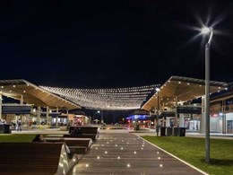 Tensile-designed catenary lighting system lights up Henley Square like the Milky Way