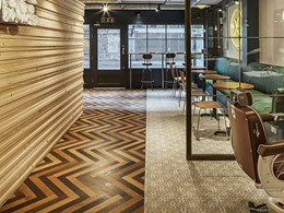 Create beautiful herringbone floors with Havwoods' interlocking click system
