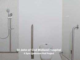 St John of God Midland Hospital features custom Sync health pods
