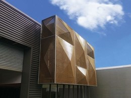 Kaynemaile Armour facade provides solar shading and visibility to retail building interior
