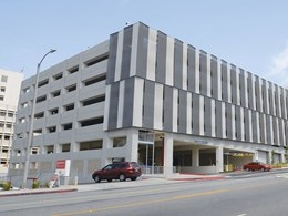 Kaynemaile mesh screens offer airflow and heat control at Loma Linda University carpark
