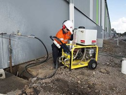 Kennards Hire supplies NATA compliant hydrostatic pumps to test water pressure in new pipeline