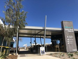 Askin panels create spectacular roofline on Oceans 27 Cafe in Perth