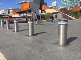Leda's automatic bollards control vehicle access to Yagan Square, Perth