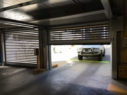 High speed security doors replace slow shutters at Canberra office carpark