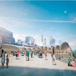 HASSELL + Herzog & de Meuron wins Flinders Street Station Design Competition