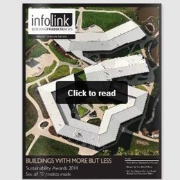 Check this gnarly cover! 'Infolink-Building Products News' magazine out now