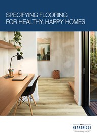 Specifying flooring for healthy, happy homes