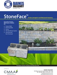 Build a stunning masonry wall with Baines Masonry StoneFace™