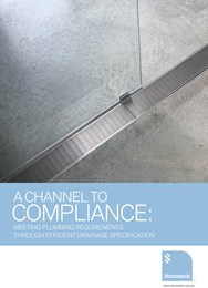 A channel to compliance: Meeting plumbing requirements through efficient drainage specification