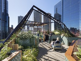 Sky high green refuge in the heart of Melbourne