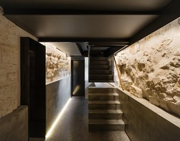 "Architect turns run-down pre-war bomb shelter into a sophisticated ""wine cave"""