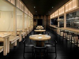 Charred timber lights up Adelaide's new Japanese restaurant