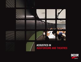 Acoustic design for auditoriums and theatres