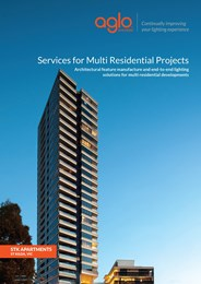 Services for multi-residential projects: Architectural end-to-end lighting solutions for multi-residential developments