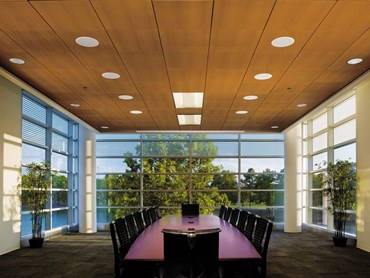 Armstrong's WoodWorks™ wood ceilings