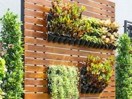 Installing artificial green walls