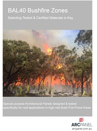 Architectural panels for use in high-risk bushfire prone areas