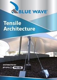 Achieve strong, stunning architectural forms with Blue Wave tensile architecture