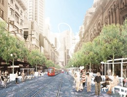 Three concepts shortlisted in competition to redesign Sydney's George Street
