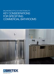 Balancing style & functionality: Key considerations for specifying commercial bathrooms