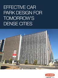 Effective car park design for tomorrow's dense cities