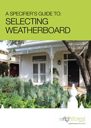 A specifier's guide to selecting weatherboard