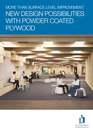 More than surface level improvement: New design possibilities with powder coated plywood