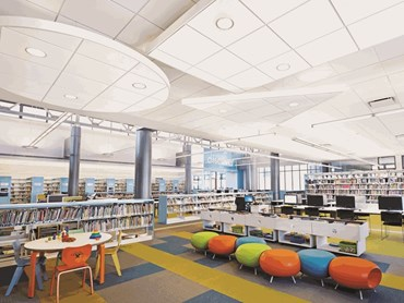 ULTIMA+ by Armstrong is a new and improved ceiling with a smoother white surface and increased durability