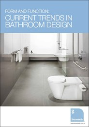 Form and function: current trends in bathroom design