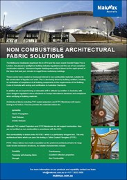 Non-combustible architectural fabric solutions