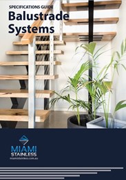 Specifications guide for balustrade systems