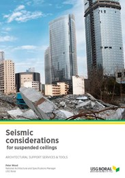 Seismic considerations for suspended ceilings
