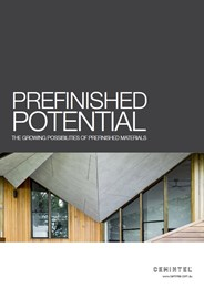 Prefinished Potential: the growing possibilities of prefinished materials