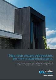 Edgy meets elegant: bold black hits the mark in established suburbs