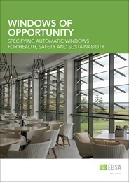 Windows of opportunity: Specifying automatic windows for health, safety and sustainability
