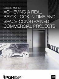 Less is more: Achieving a real brick look in time and space-constrained commercial projects