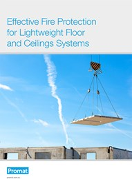 Effective fire protection for lightweight floor and ceiling systems