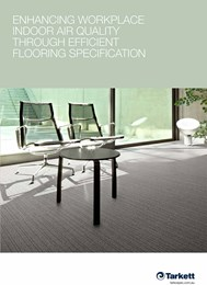Enhancing workplace indoor air quality through efficient flooring specification